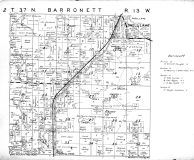 Barronett Township, Shell Lake - Southwest, Washburn County 1952